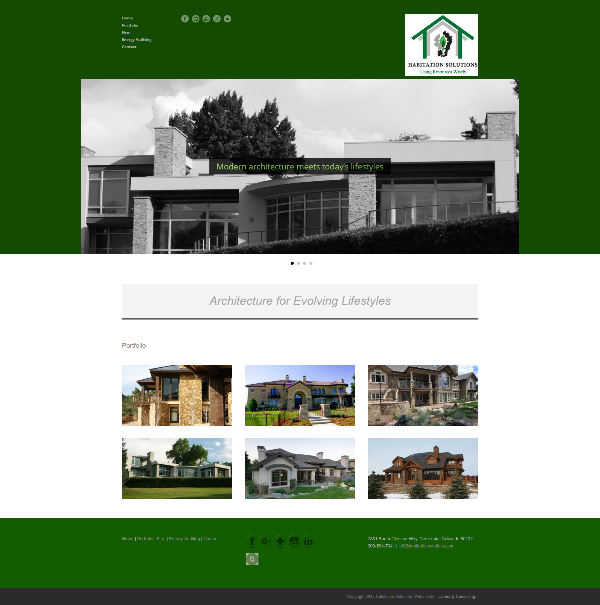 Architecture firm web design by Veronica Cannady
