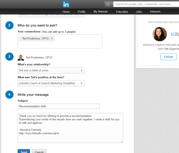 How to Receive LinkedIn Recommendations with Ted Prodromou