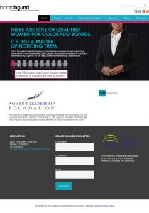 Colorado Women's Chamber of Commerce Foundation website redesign