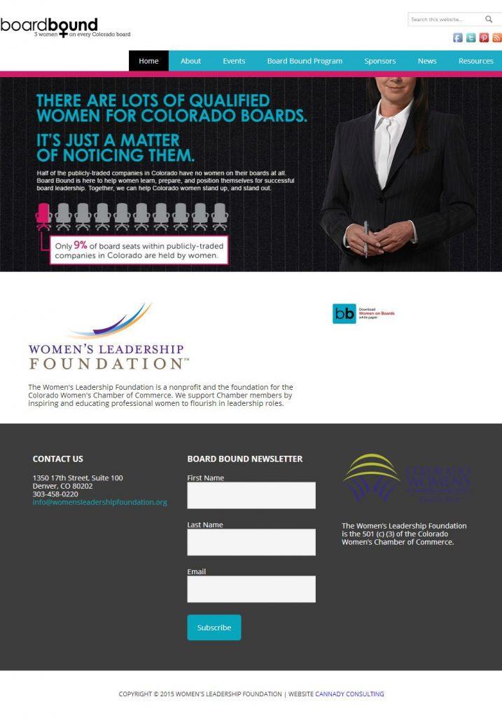 CWCC Women's Leadership Foundation Website BoardBound