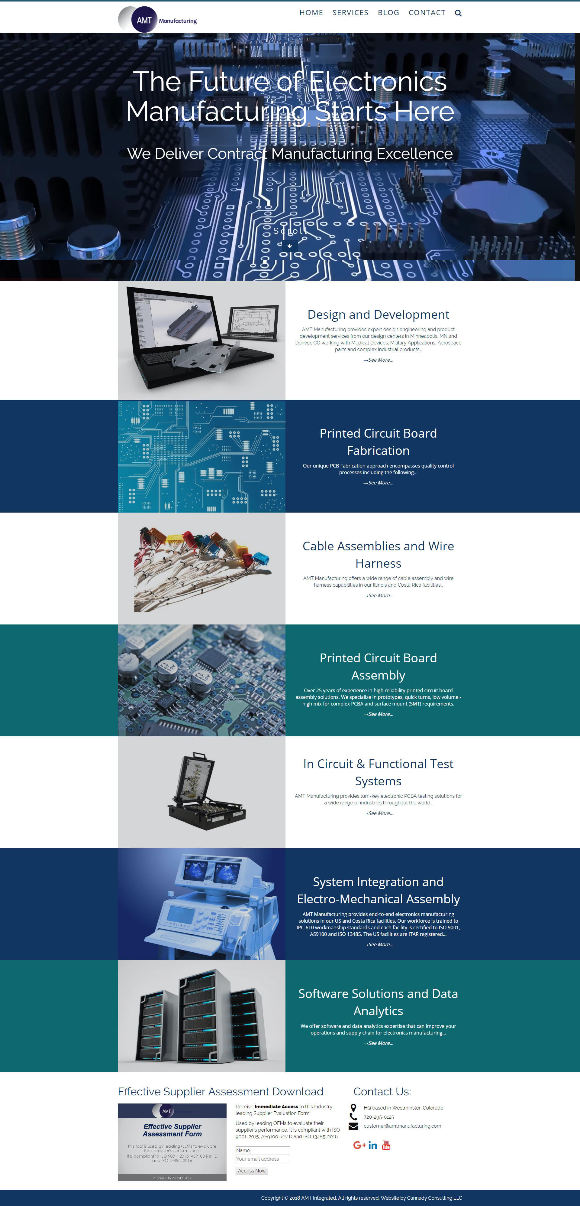 Manufacturing web design by Veronica Cannady