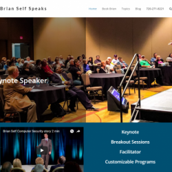 Brian Self Cyper Security Speaker Website By Veronica Cannady
