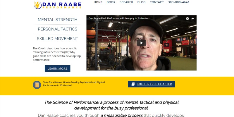 Dan Raabe Performance Training Website By Veronica Cannady