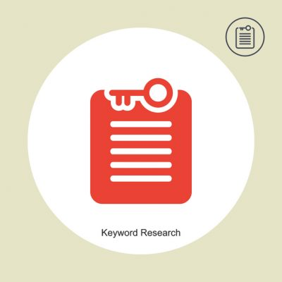 Keyword research line icon, seo and development